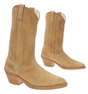 Vintage ACME DINGO Cowboy Boots 8 D Mens ROUGHOUT Suede Leather Western Boots
