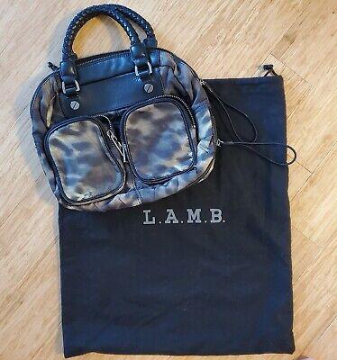 L.a.m.b. Purse GWEN STEFANI Camouflage  and Black Leather Expandable