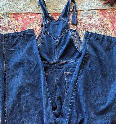 Vintage Overalls & Jumpsuits Squeeze Jeans Juniors Overall Bibs Size M Pants Denim Snap Straps $18.00 AT vintagedancer.com