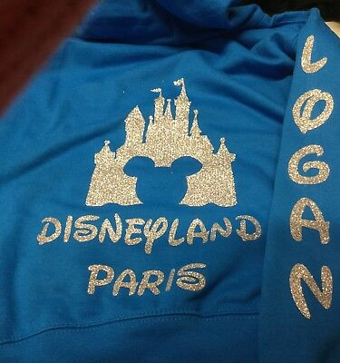 Disney personalised zipped hoodie adult sizes up to 5XL and various colours