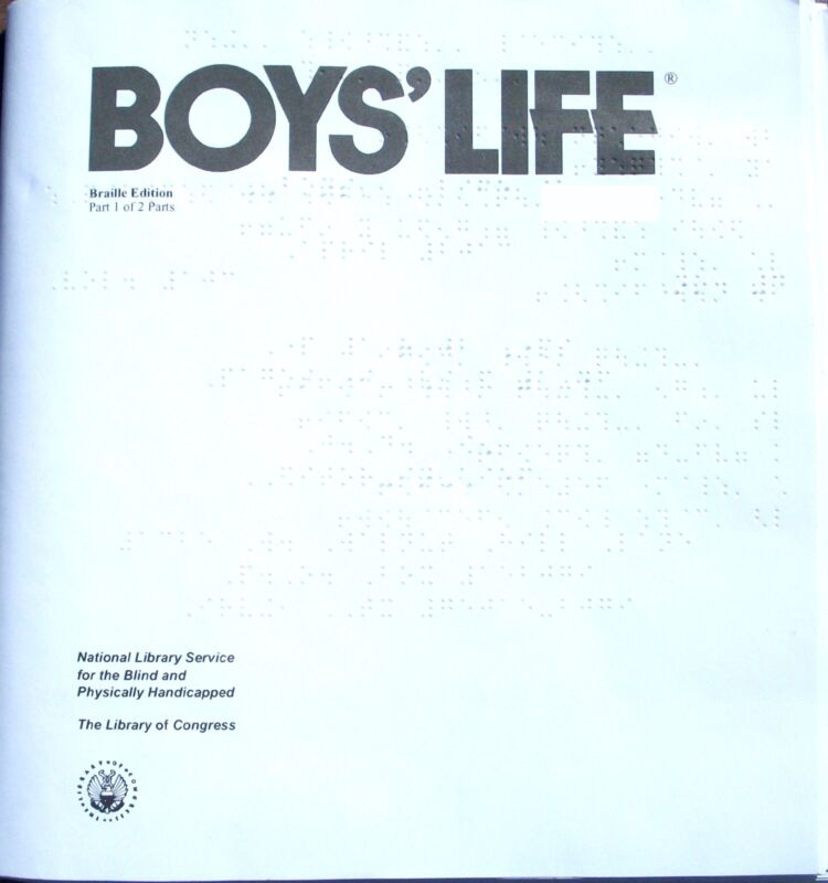 Boy's Life - January 2017 (Braille for the blind teen) English, Monthly