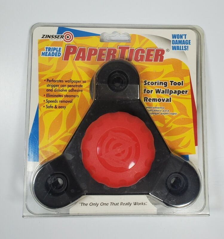 Zinsser Triple Headed Paper Tiger Wallpaper Remover Tool ( NEW )