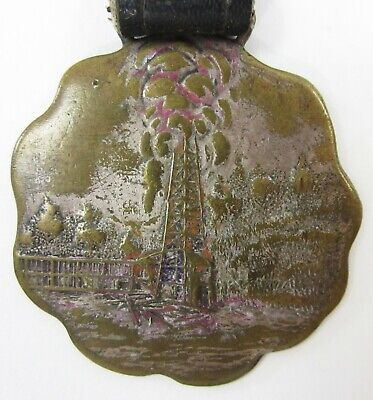 Vintage Oil Well Derrick Drilling Supply Co Advertising Watch Fob Pittsburgh Pa