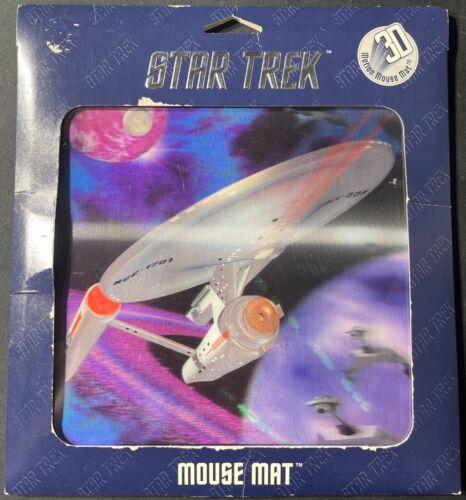 3D USS Enterprise NCC-1701 Star Trek Mouse Pad 1997 NEW FS 'Sullys Hobbies'