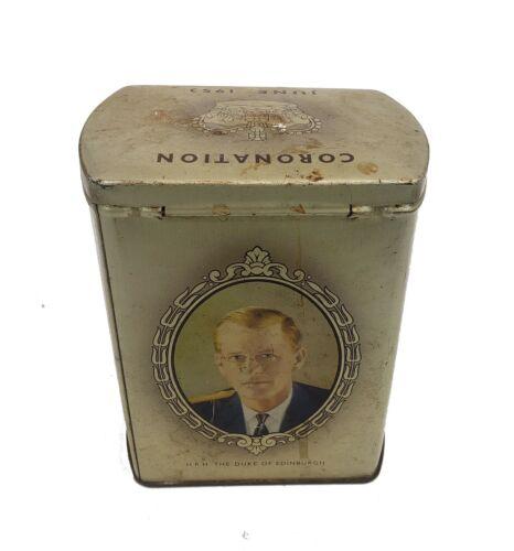 Collectible Souvenir Tin Queen Elizabeth II & Prince Philip 1953