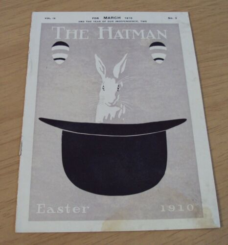 "VERY RARE Antique 1910 Catalog~CROFUT & KNAPP CO~""The HATMAN""~Easter Styles~"