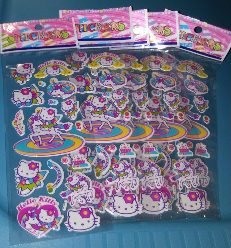 Hello Kitty 5 Packs Of Stickers Lot So Very Cute!