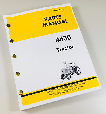 Parts Manual For John Deere 4430 Tractor Catalog Book Assembly Exploded Views