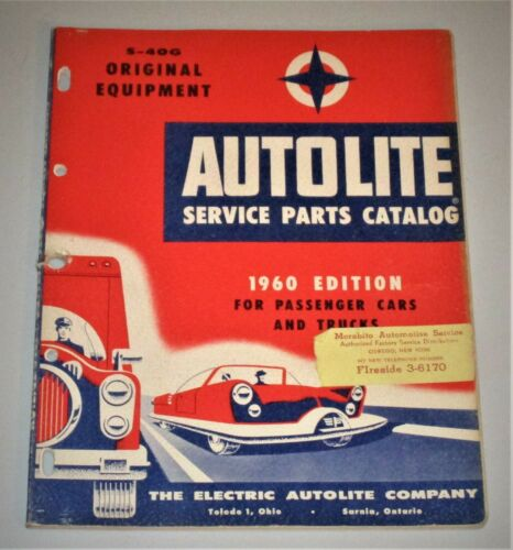 1960 Auto Lite Service Parts Catalog - GREAT REFERENCE CATALOG & DISPLAY PIECE!