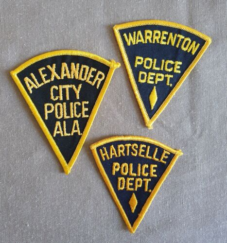 USA - 3 x Different Old Police Patches - Alabama