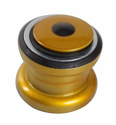 Aheadset headset Threadess 1-1/8 Steel Cup MTB BMX ROAD BIKE URBAN Star Nut GOLD Aheadset Bmx Headset