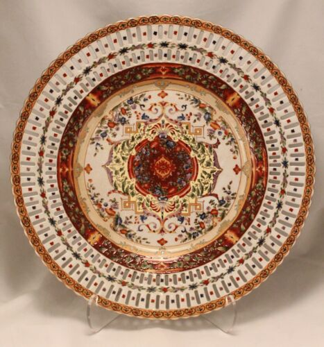 """Castilian Porcelain Reticulated Plate Tray Charger 14.75"""""""