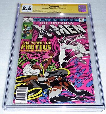 X-Men #127 Dual CGC SS Signature Autograph STAN LEE CHRIS CLAREMONT Proteus App