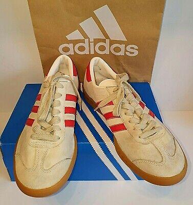 Rare Adidas Hamburg Vienna Chalk Red + Gum M17870 Mens UK Size 10.5 Trainers
