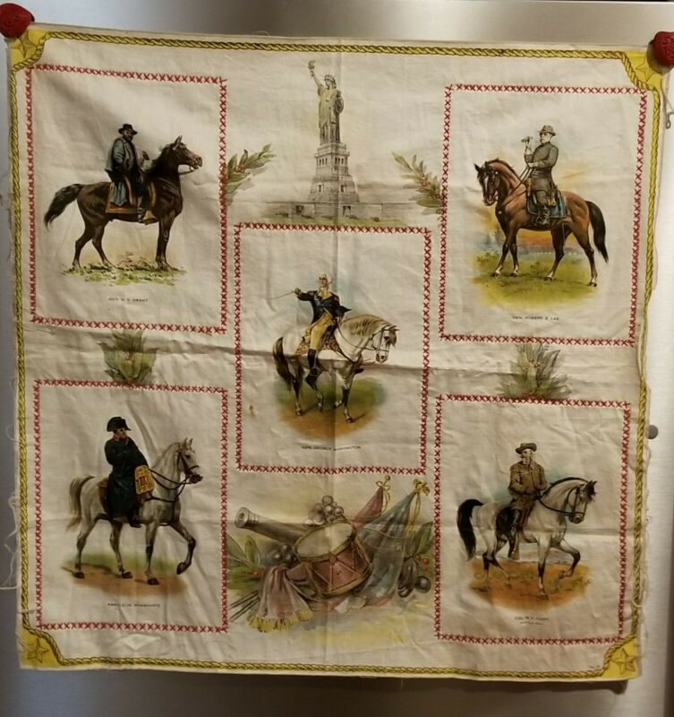 1912 S110 Helmar Generals Tobacco Premium Silk Pillow Case Lee Grant Washington