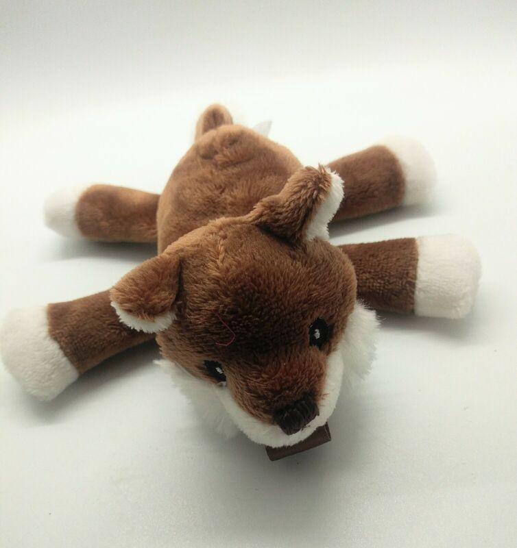 RaZbaby Plush Fox Pacifier Holder Removable Lovey binkey holder for baby