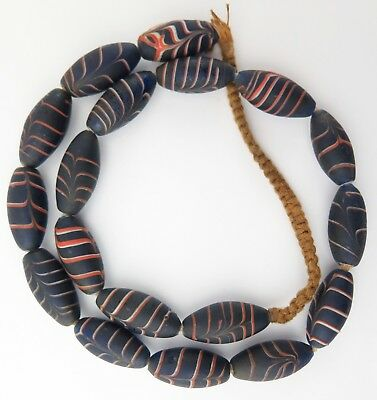 Glass trade bead necklace. Nepal / North Indian beads. Ethnographic antique.