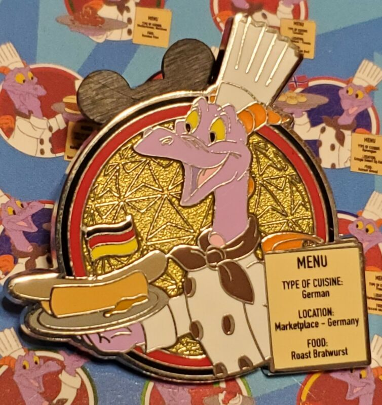 Disney Pin Figment 2021 Food And Wine Festival Germany LR Pin Free Shipping