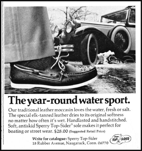 1975 Sperry shoes footwear year round water sport vintage photo Print Ad ads16