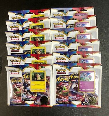 Pokemon Sword & Shield Booster Box 36 Sealed Packs Morpeko Ponyta Blisters