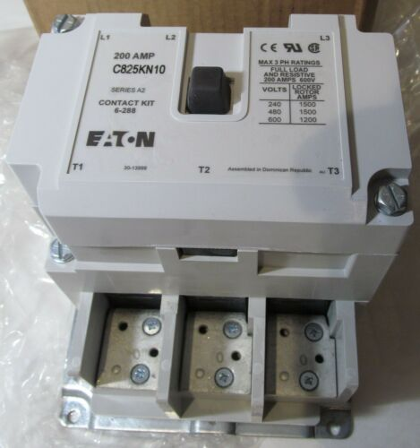 NEW EATON C825KN10A TRANE CTR01465 200A 180MM A2 DEFINITE PURPOSE CONTACTOR