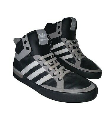 Adidas High Tops, Black Grey and White. UK Size 9, US 9.5 Euro 43.5 JD Exclusive