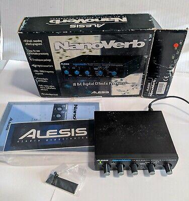 Alesis NanoVerb 18-Bit Digital Effects Processor 16 great sounding effects