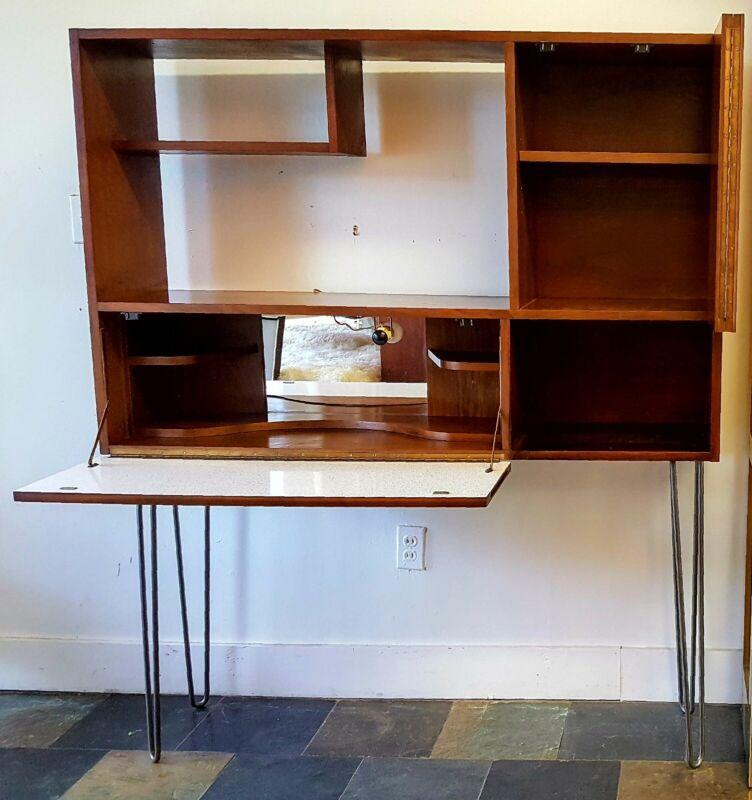 Mid Century Hairpin leg desk/bar C. 1960