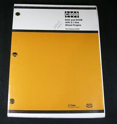 Case Dh4 Dh4b Trencher Tractor 2.1 Liter Diesel Engine Parts Manual Book Catalog
