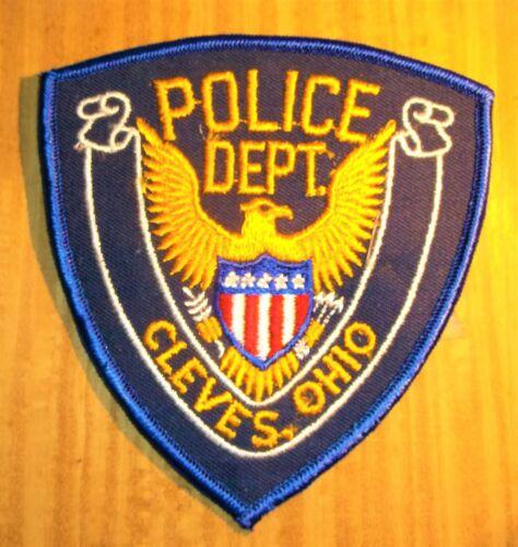 GEMSCO NOS Vintage Patch POLICE CLEVES OH - Original 45+