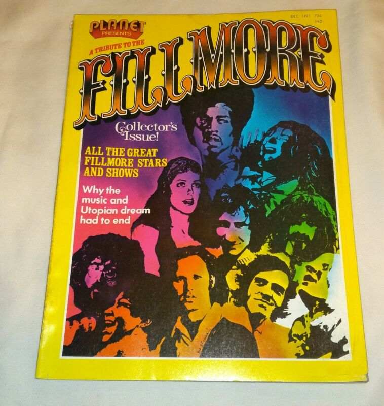 A Tribute to the Filmore, Bill Graham,1971, Jimi Hendrix,Doors,Zeppelin,Grateful