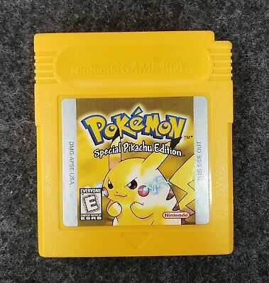 Nintendo Gameboy Pokemon Yellow Special Pikachu Edition - ORIGINAL AUTHENTIC