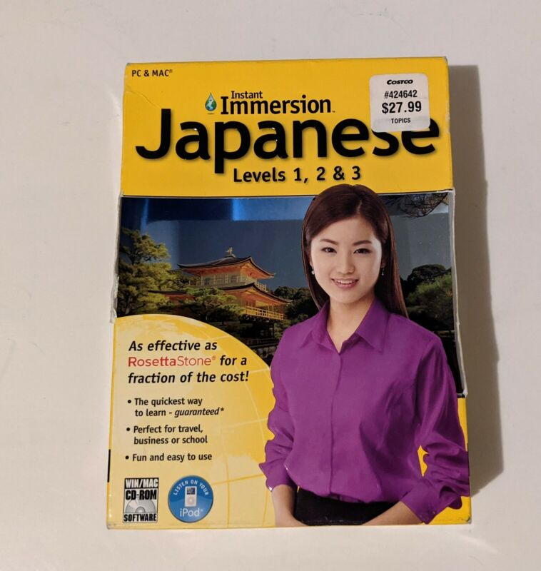 Instant Immersion Japanese Levels 12&3 2009 PC & MAC New Sealed