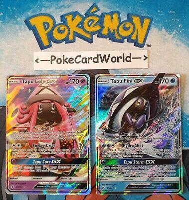 Pokemon TCG - G.R - Tapu Lele GX (60/145) & C.I - Tapu Fini GX (39/147)
