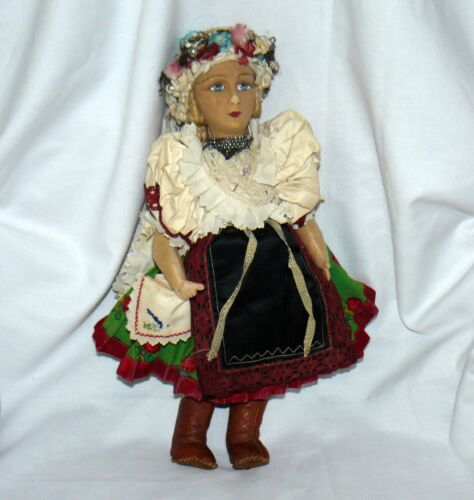 """Doll  Hand Painted Face Fabric Body Unbranded 16"""""""
