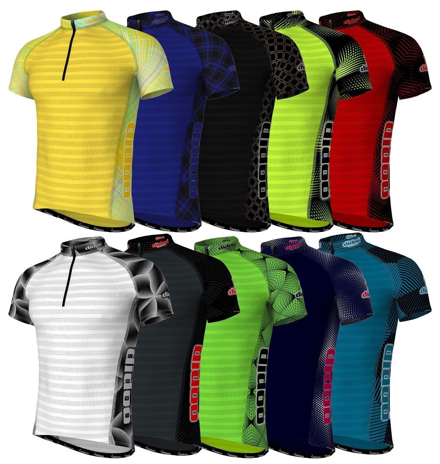 Didoo Men's Cycling Jerseys Breathable Short Sleeve Tops Bik