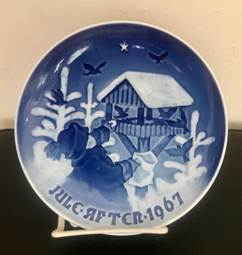 "Bing & Grondahl 1967 B&G Christmas Plate ""The Bird"