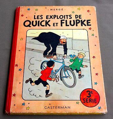HERGE - LES EXPLOITS DE  QUICK ET  FLUPKE  3E SERIE - 1954 - B10