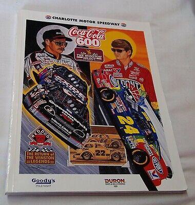 Charlotte Motor Speedway Program NASCAR- Coca Cola 600 1995