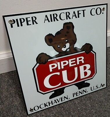 Piper aircraft Cub sign ... Pilot Airline Airport Airplane