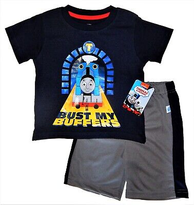 Train Engineer Outfit (THOMAS TANK ENGINE TRAIN Shirt & Shorts Outfit Clothing Set NWT Sz. 2T 3T 4T)