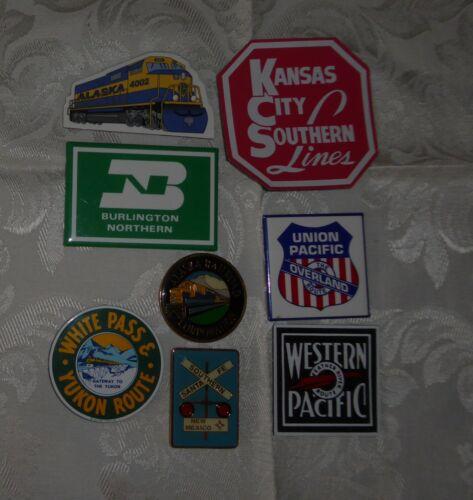 Lot of 8 Railroad Refrigerator Magnets