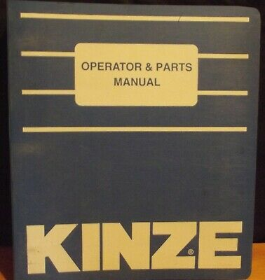 Kinze Model 2200 Flex Econo-fold Planter Operator Parts Manual 1995 Original