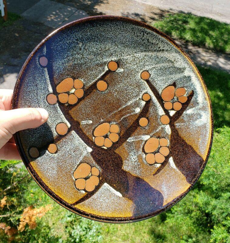 Vintage Japanese Mashiko Pottery Charger Plate