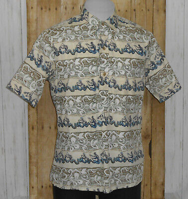 Used, Kahala Hawaiian Pullover Shirt Mens Medium Short Sleeve Reverse Print Floral for sale  Shipping to Canada