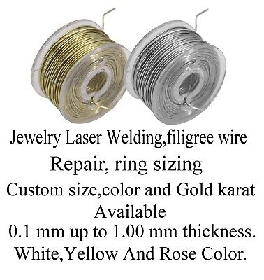 Solid 14K Yellow Gold Wire,jewelry Repair Laser Welding, 0.25mm=30 Gauge, 2 feet