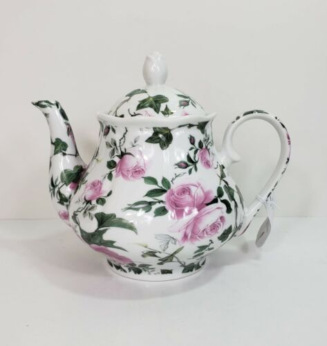 Kent Pottery In Full Bloom Pink Roses Teapot