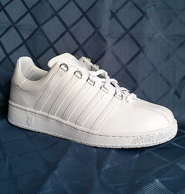 K Swiss Classic VN 03343101 Formerly Luxury White Mens Fashion Shoes Sizes  Classic Luxury Mens White Shoes