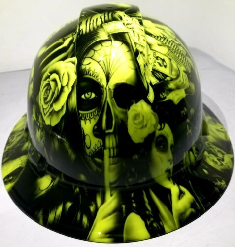 Hard Hat FULL BRIM custom hydro dipped , OSHA approved NO LOVE ALL HUSTLE NEW
