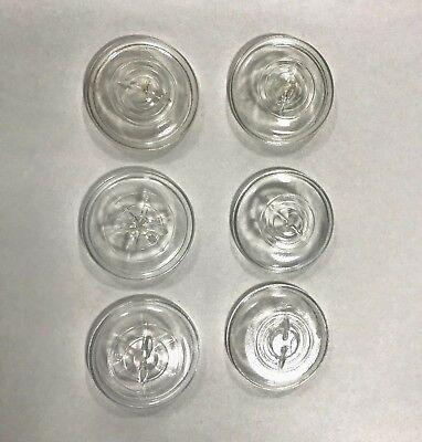 Mason Jar Set (SET OF 6 VINTAGE CLEAR GLASS CANNING MASON JAR LID FOR WIRE BAIL STYLE JAR)